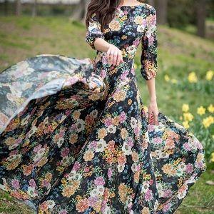 Yumi Kim Woodstock Floral Print Maxi Dress